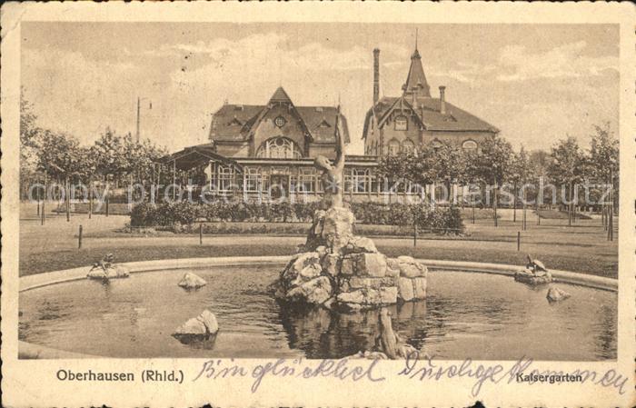 Oberhausen Kaisergarten Kat. Oberhausen