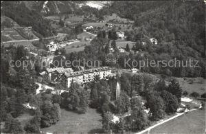 Bex les Bains Hotel des Salines Fliegeraufnahme Kat. Bex