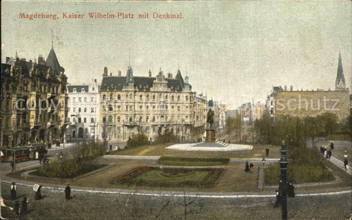 Magdeburg Kaiser Wilhelm Platz Denkmal Kat. Magdeburg