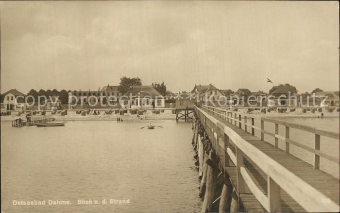 Dahme Ostseebad Strand Seebruecke Kat. Dahme