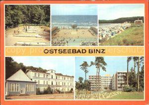Binz Ruegen Minigolf Konzertplatz Strand FDGB Erholungsheime Seeschloss und Wolin Kat. Binz
