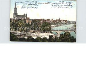 Ulm Donau Teilansicht mit Muenster Kat. Ulm