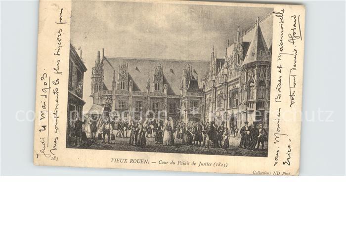 Vieux Rouen sur Bresle Cour du Palais de Justice Kat. Vieux Rouen sur Bresle