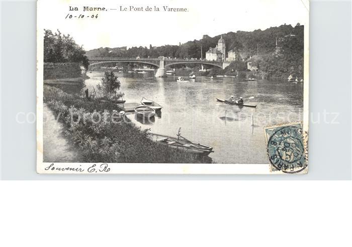 La Marne Le Pont de la Varenne Kat. La Marne