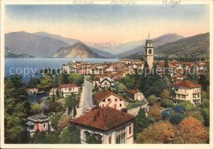 Pallanza Lage Maggiore Panorama Kuenstlerkarte  Kat. Italien