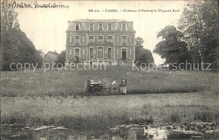 Cassel Nord Chateau d'Oxelaere Facade Sud / Cassel /Arrond. de Dunkerque