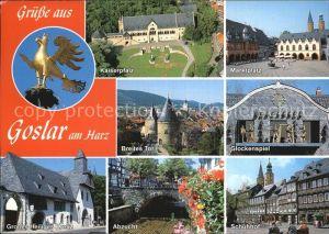 Goslar Fliegeraufnahme Kaiserplatz Breites Tor Abzucht Schuhhof Glockenspiel Kat. Goslar