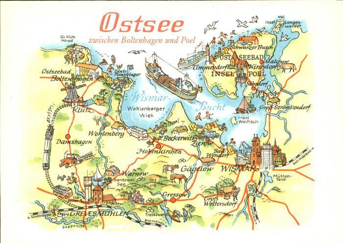 ostsee landkarte Boltenhagen Ostseebad Ostsee zwischen Boltenhagen und Poel  ostsee landkarte