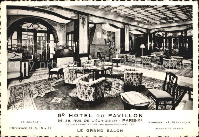Paris Hotel du Pavillon Grand Salon Kat. Paris