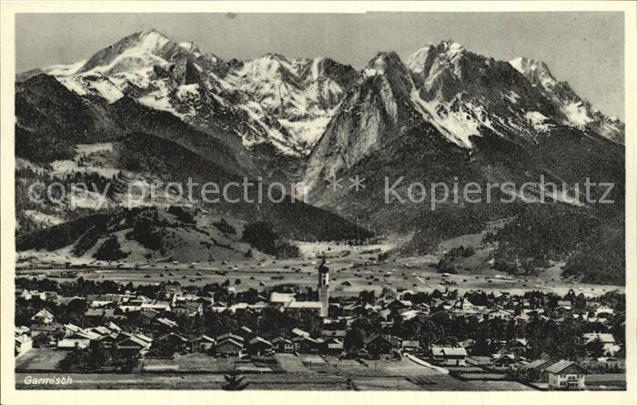 Garmisch Partenkirchen gegen Alpspitze Hoellental Waxensteine Zugspitze Kat. Garmisch Partenkirchen