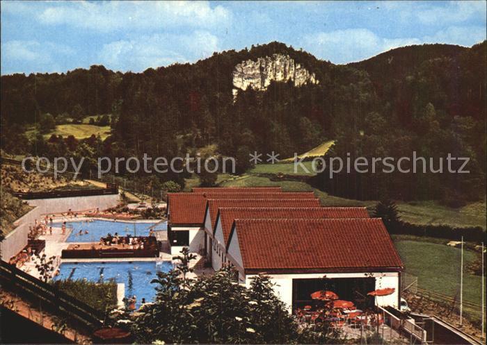 Hirschbach Oberpfalz Terrassenbad mit Mittelbergwand Kat. Hirschbach