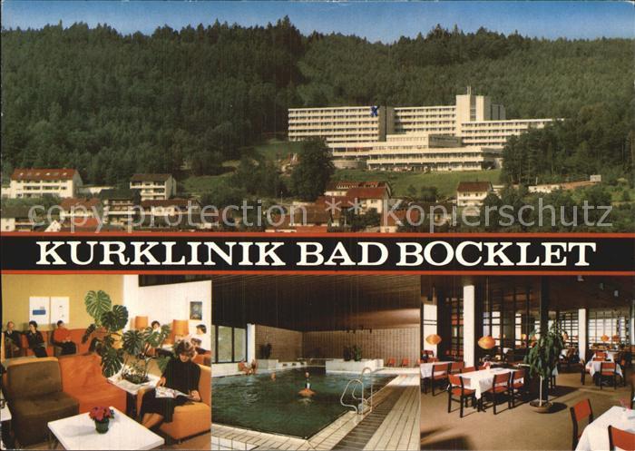 Bad Bocklet Kurklinik Bad Bocklet Aufenthaltsraum Hallenbad Speisesaal Kat. Bad Bocklet