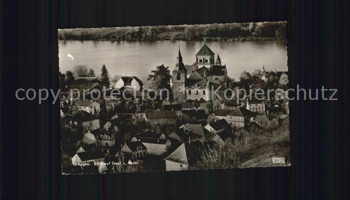 Remagen Blick auf Stadt und Rhein Kat. Remagen