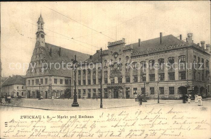 Zwickau Sachsen Markt Rathaus Kat. Zwickau