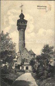 Wuerzburg Frankenwarte Turm Kat. Wuerzburg