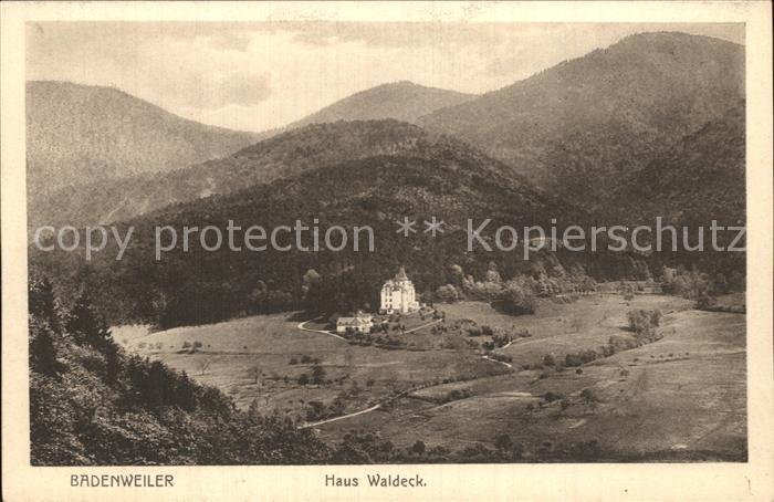 Badenweiler Haus Waldeck Kat. Badenweiler