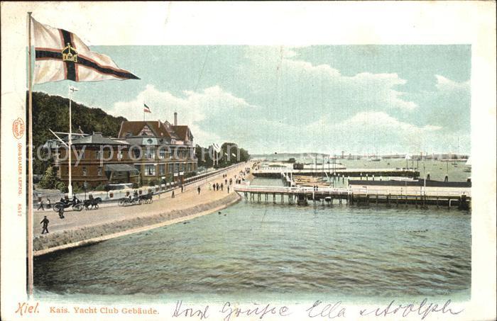Kiel Kaiserliches Yacht Club Gebaeude Kat. Kiel