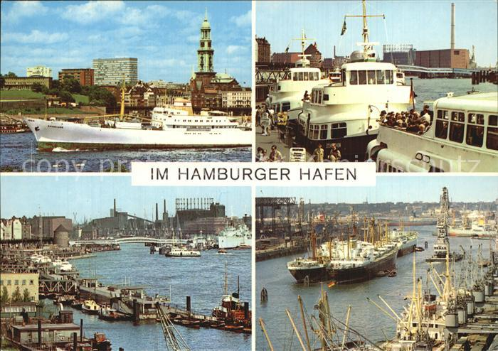 Hamburg Hamburger Hafen Teilansichten Kat. Hamburg