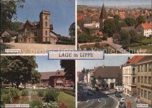 Lage Lippe Wilhelmsburg Sedanplatz Bahnhof Markt Kat. Lage