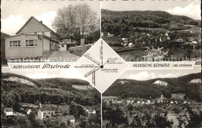 Hitzelrode Speisehaus Kniese Panorama Kat. Meinhard