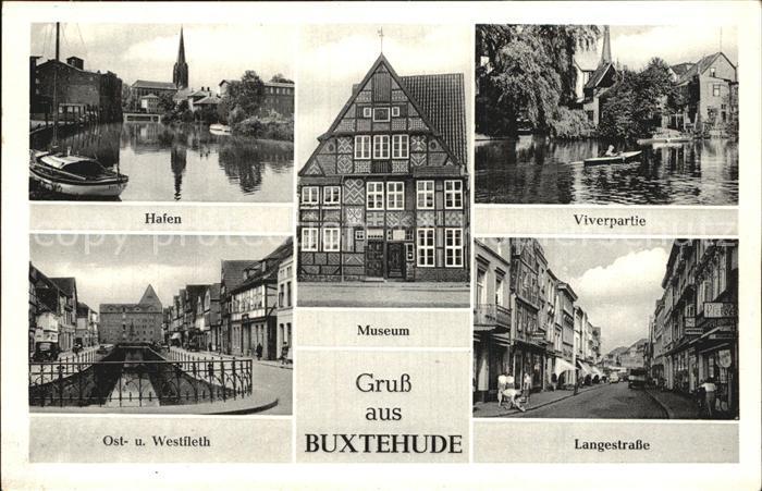 Buxtehude Ost West Fleth Hafen Viverpartie Langestrasse Museum Kat. Buxtehude