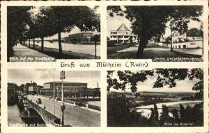 Muelheim Ruhr Stadthalle Wasserbahnhof Schlossbruecke Ruhrtal Kat. Muelheim an der Ruhr