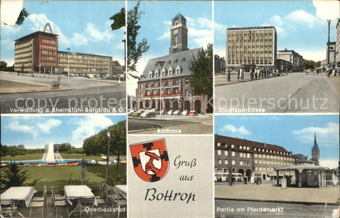 Bottrop Verwaltung Rheinstahl Bergbau Rathaus Pferdemarkt Overbeckshof Kat. Bottrop