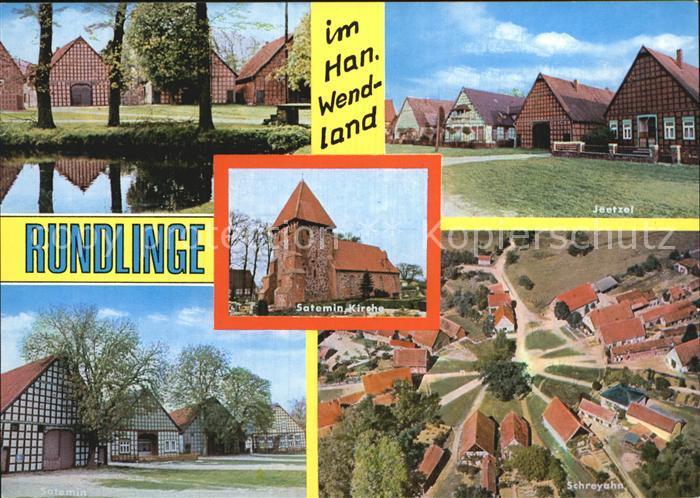 Wendland Rundlinge Jeetzel Satemin Kirche Schreyahn Fliegeraufnahme