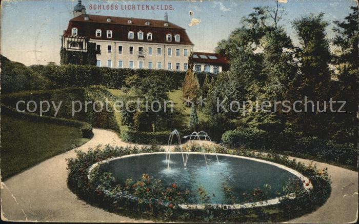 Lichtenwalde Sachsen Schloss Lichtenwalde Springbrunnen