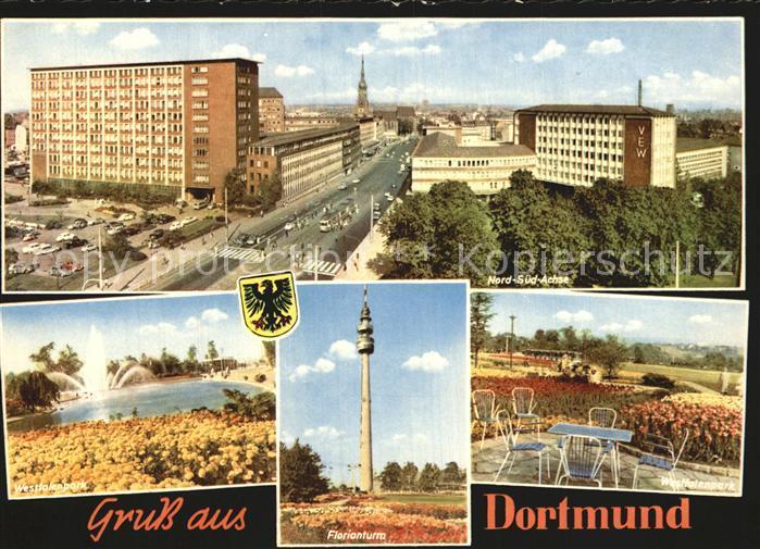 Dortmund Nord Sued Achse Florianturm Westfalenpark Kat. Dortmund