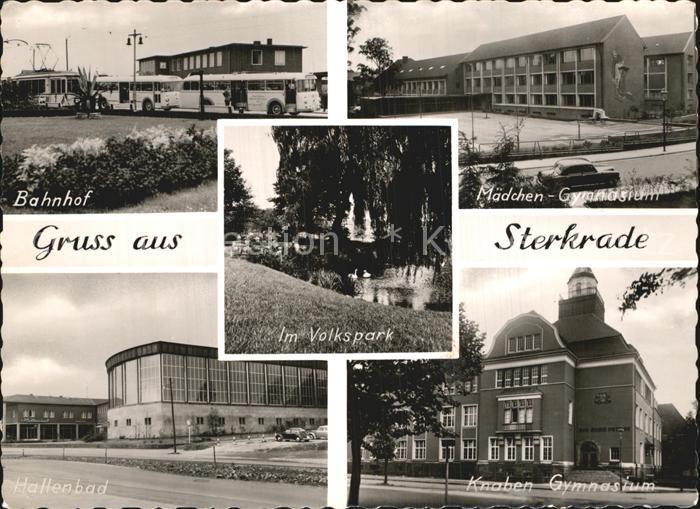 Sterkrade Bahnhof Maedchengymnasium Hallenbad Knabengymnasium Kat. Oberhausen