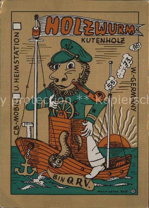 Kutenholz Funkerkarte Holzwurm Kat Kutenholz Nr De11855 Oldthing