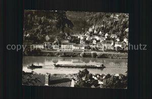 Schlierbach Heidelberg Blick auf den Neckar Kat. Heidelberg