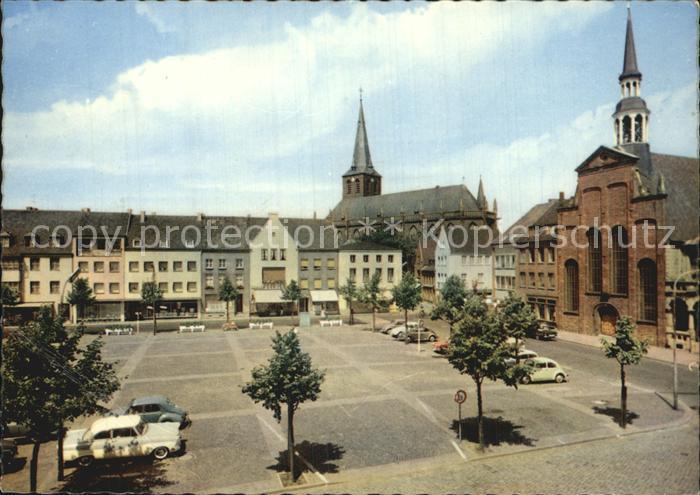 de11985 Goch Markt Kirche Kat. Goch Goch
