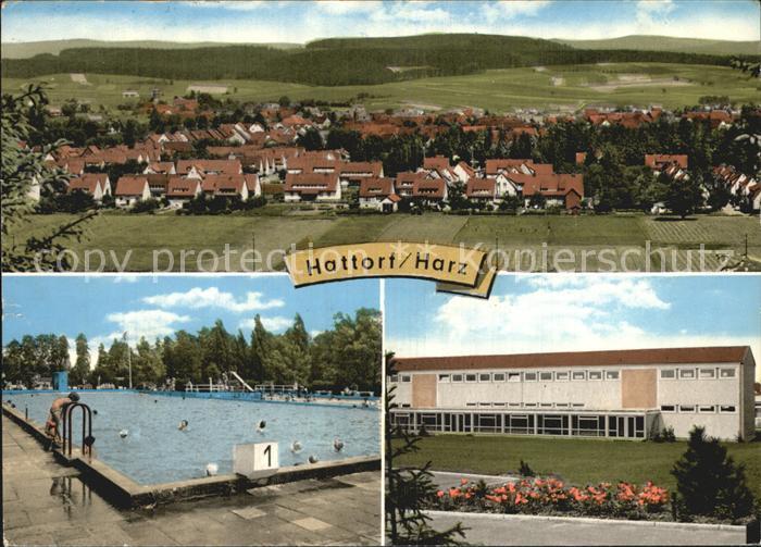 Hattorf Harz Ansicht Schwimmbad  Kat. Hattorf am Harz