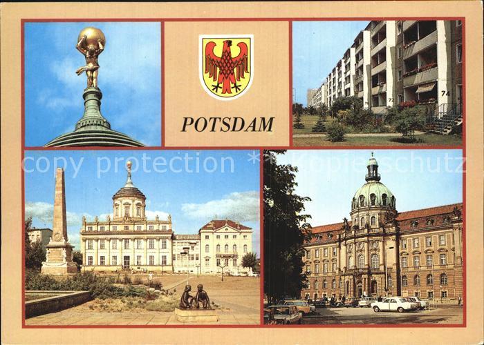 Potsdam Riese Atlas Kulturhaus Stern Regierungsgebaeude Rat der Stadt Kat. Potsdam