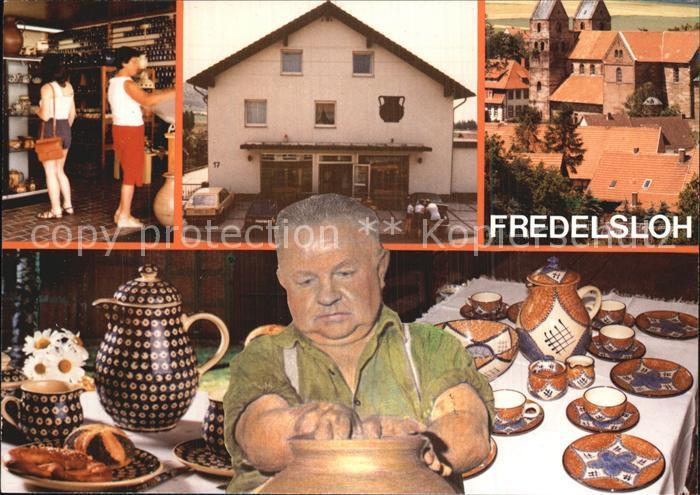 Fredelsloh Bunzlauer Handtoepferei Georg Greulich Verkaufsraum  Kat. Moringen