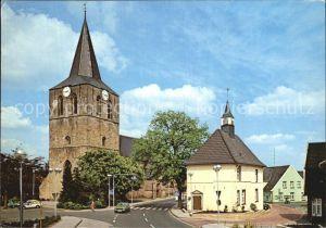 Uelsen Kirche mit Rathaus Kat. Uelsen