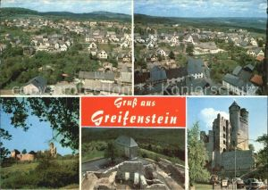 Greifenstein Hessen Burg Panorama Kat. Greifenstein