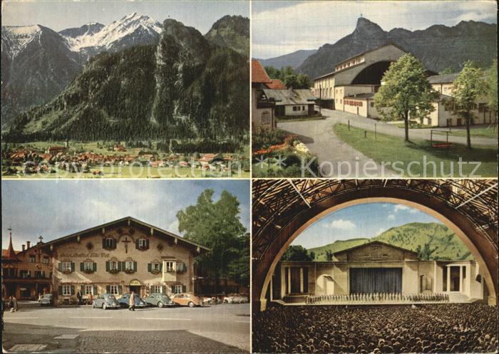 Oberammergau Kofel Notkarspitze Passionsspielhaus Hotel Alte Post Kat. Oberammergau