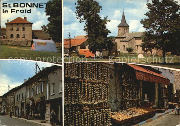Saint Bonnet le Froid Altstadt Knoblauchmarkt Kat. Saint Bonnet le Froid