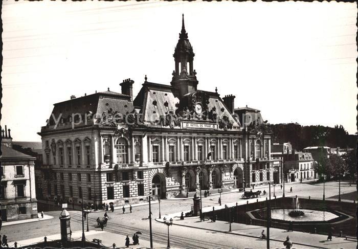 Tours Indre et Loire Hotel de Ville et Place du Palais Kat. Tours