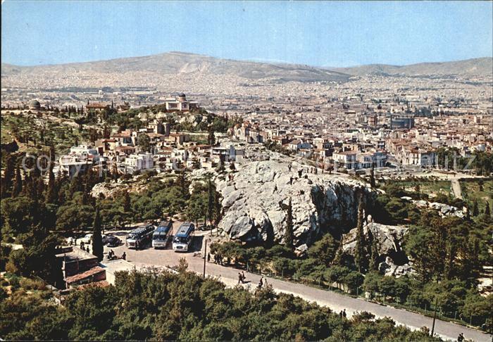 Athenes Athen Akropolia Tribuene des Crios Pagos Panorama Kat. Griechenland