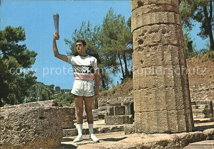 Olympia Griechenland Olympische Flamme Die Apotheose Kat. Griechenland