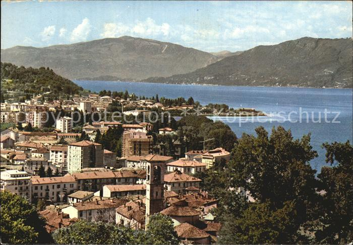 Luino Fliegeraufnahme mit Lago Maggiore Kat. Lago Maggiore