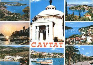 Cavtat Dalmatien Fliegeraufnahme Teilansichten Hafen Tempel Kat. Kroatien