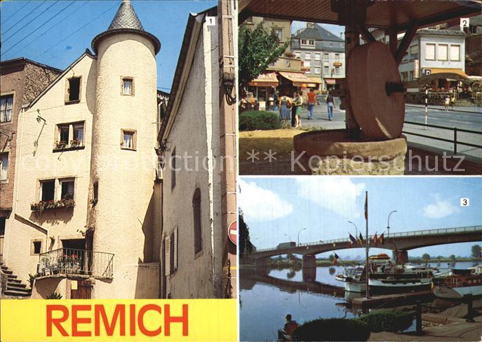 Remich Vieille Tour Ancienne presse a fruits  Kat. Luxemburg