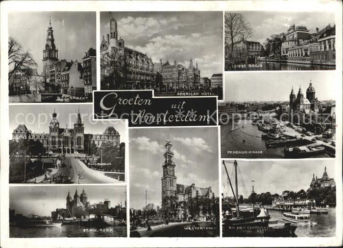Amsterdam Niederlande Raamgracht American Hotel Leidse Bosje Rijksmuseum Pr Hendrikkade St Nicolas Kerk Westertoren Centraal Station Kat. Amsterdam