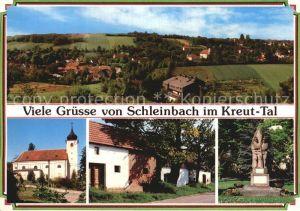 Schleinbach Panorama Pfarrkirche Kellergasse Kriegerdenkmal Kat. Mistelbach