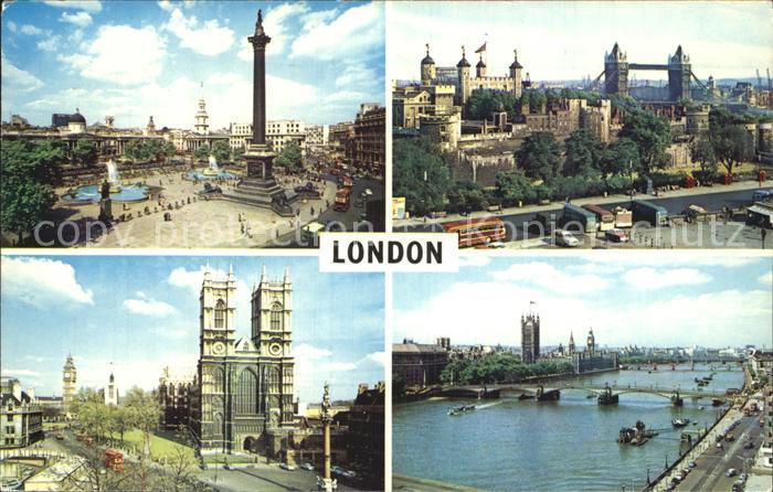 London Tower Bridge Trafalgar Square Westminster Abbey  Kat. City of London